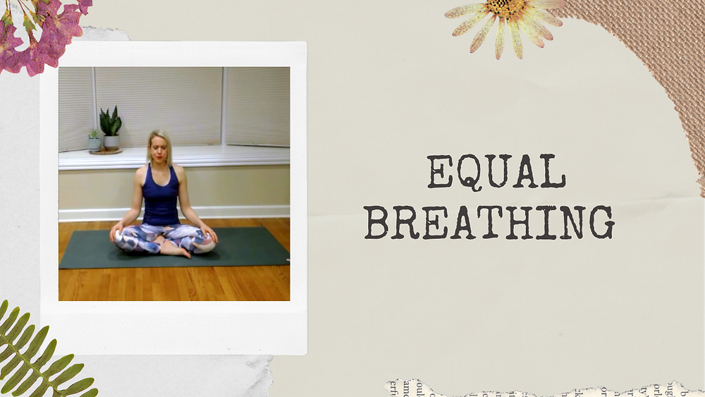 Yoga Teacher and Author Julie M. Gentile sitting in cross-legged position on a yoga mat with eyes closed.