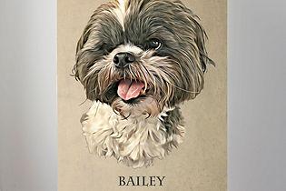 Pet portrait on canvas