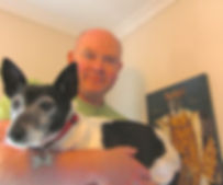 Man with jack russell