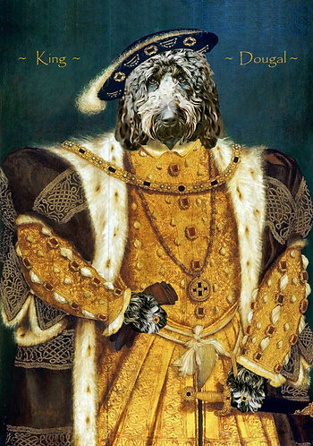 Royal Portrait Henry VIII of Your/Friends/Family Pet on Gallery wrap canvas