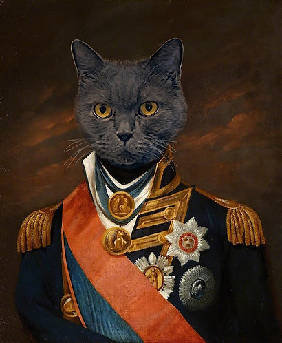 Admiral Nelson Portrait of Your/Friends/Family Pet gallery wrap
