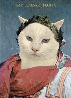 Historic Portrait of Your Pet in Nero Caesar attire