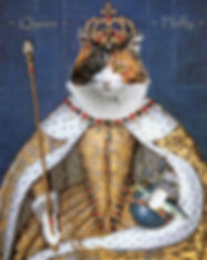 Cat in royal costume