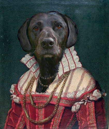 Renaissance Lady Portrait of Your/Friends/Family Pet gallery wrap