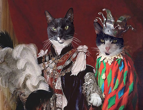 Double Portrait of Your Pet as King and Jester