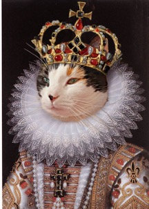 Royal Portrait of Your Pet in a Queen with Ruff attire