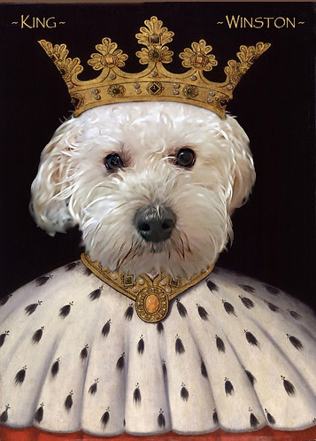 Royal Portrait of Your/Friends/Family Pet on Gallery wrap canvas