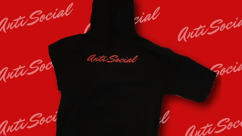 """""""Anti Social"""" Hoodie (Black)"""