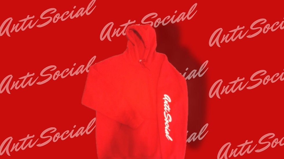 "Anti Social ""Signature"" Hoodie (Red)"