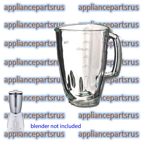 Braun 4184 Blender Glass Jug 1.75L Part 4184642 BR64184642