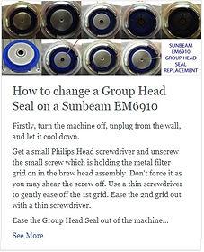 How to change a Group Head Seal on a Sunbeam EM6910