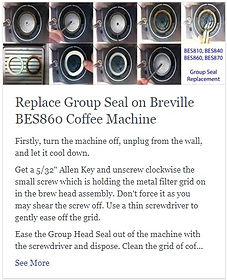 Replace Group Seal on Breville BES860 Coffee Machine