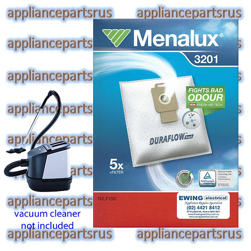 Menalux 3201 Vacuum Cleaner Bags for Nilfisk King Extreme Power GM200 Pk 5