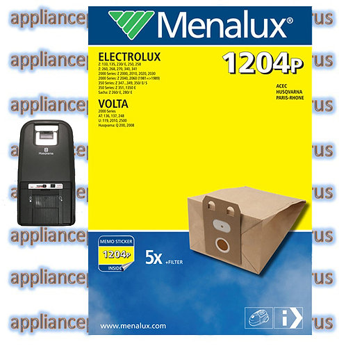 Menalux 1204P Volta 200 2000 Series T47B Paper Vacuum Bags Pk5