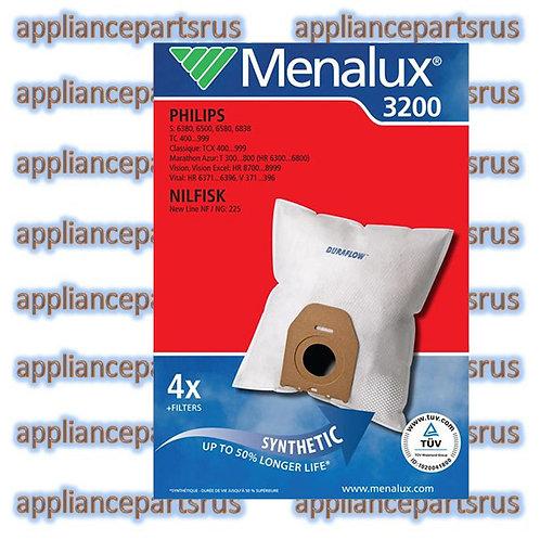 Menalux 3200 Vacuum Cleaner Bags for Nilfisk NEW LINE Philips OSLO PK 4