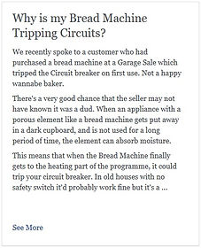 Why is my Bread Machine Tripping Circuits?