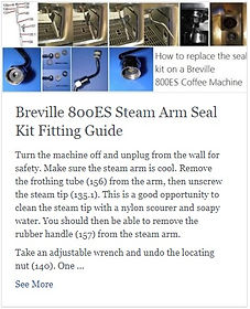Breville 800ES Steam Arm Seal Kit Fitting Guide
