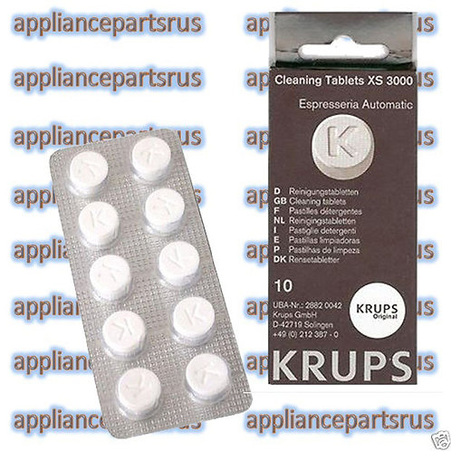 Krups XS3000 Cleaning Tablets Part No XS300010 KAXS300010 OPack o f10