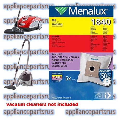 Menalux 1840 Duraflow Vacuum Cleaner Bags Pk 5