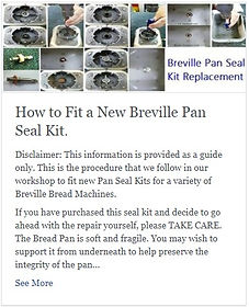 How to Fit a New Breville BB290 BB300 BB420 Pan Seal Kit.