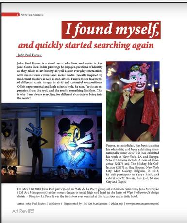 John Paul Fauves at Art Reveal Magazine