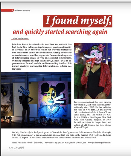 John Paul Fauves at Art Reveal Magazine