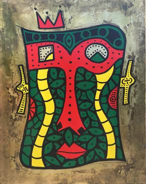 Gangee_47x35inch_VintageFinish_MetalLeaf_acrylics_2016.JPG