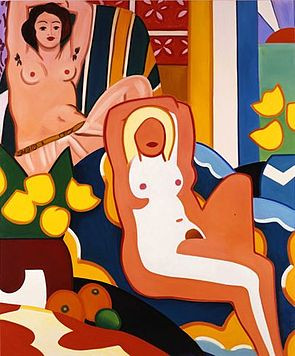 Sunset Nude with Matisse Odalisque (2003)