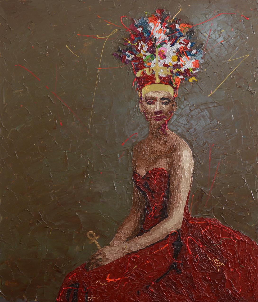 "Oil on canvas  51"" x 39"" inch  130 x 100 cm"