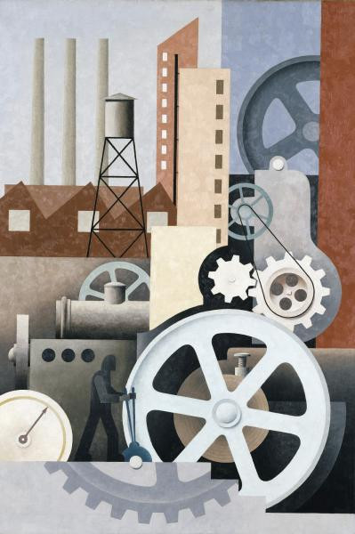 Paul Kelpe, Machinery (Abstract #2), 1933-1934, oil on canvas, Smithsonian American Art Museum, Transfer from the U.S. Department of Labor, 1964.1.27