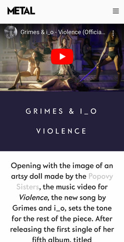 Metal Magazine: Popovy X Grimes