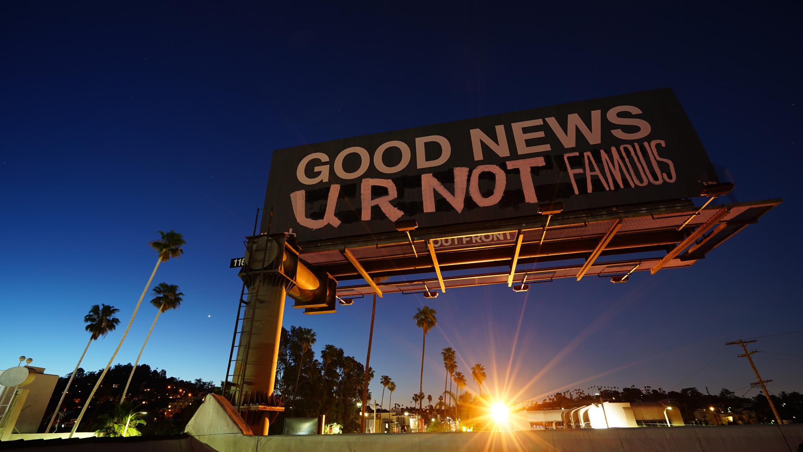 Billboard takeover in LA