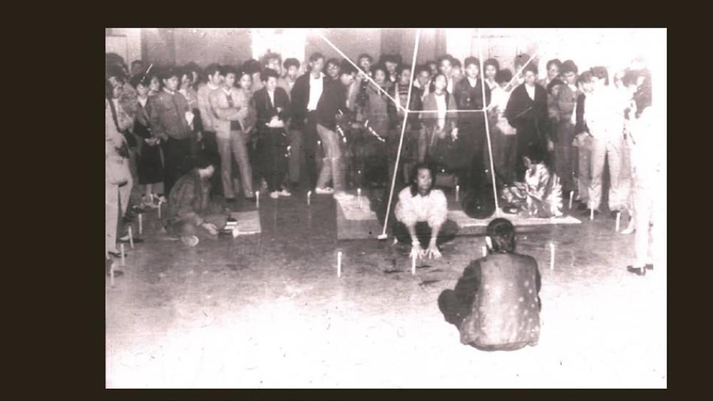 Language · Communication · Man, 1988, Performance. Image courtesy of Yang Jiechang, Hou Hanru, Chen Tong and Tang Songwu