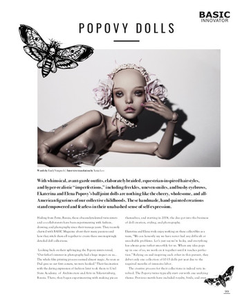 Popovy Sisters for Basic Magazine