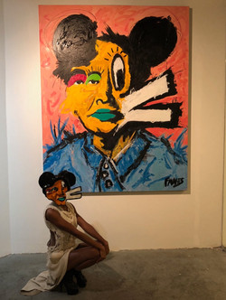 John Paul Fauves painting and mask