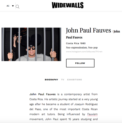 John Paul Fauves at WideWalls