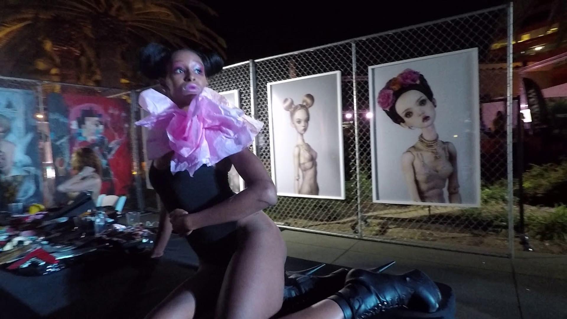 Live doll installation