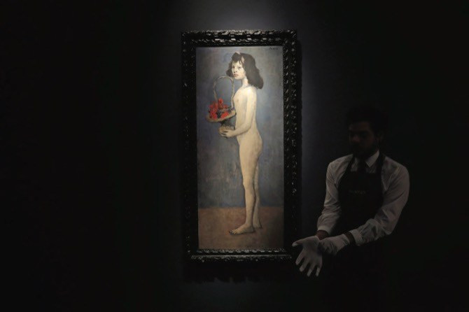 "Pablo Picasso's ""Fillette a la corbeille fleurie"" (1905)"