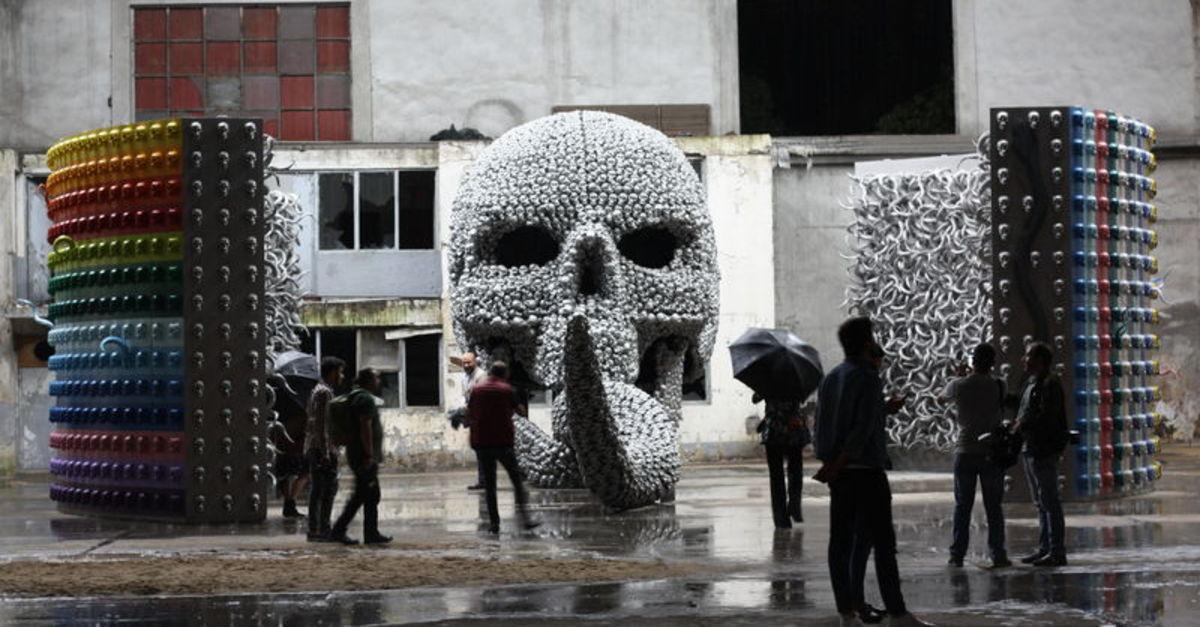 Artwork by Ahmet Gunestekin on display at Contemporary Istanbul September 2018 in Istanbul