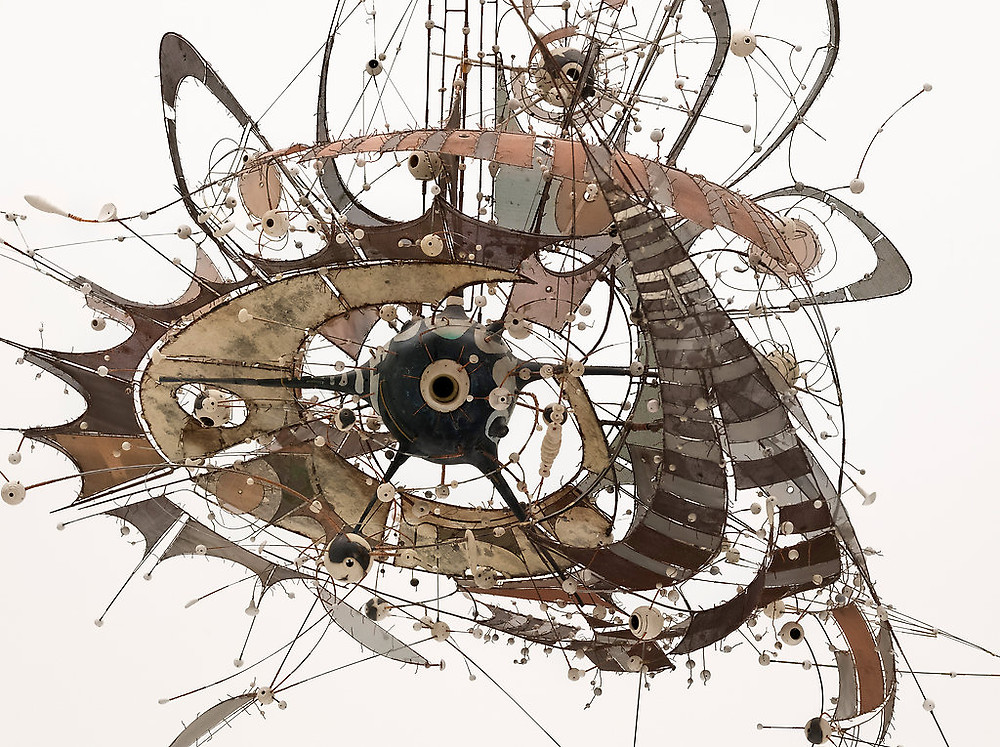 Detail from an untitled work, 1980-98, by Lee Bontecou, from MoMA's permanent collection.