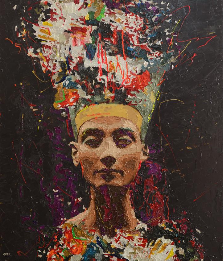 "Oil on canvas  70"" x 55"" inch 180 x 140 cm"
