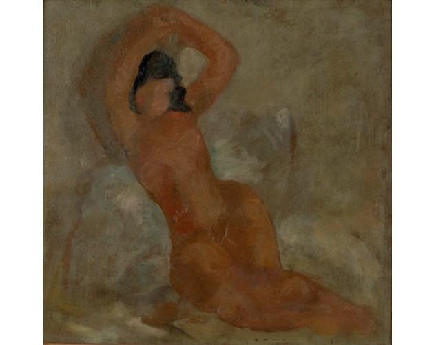 Nahmeya Saad  (1912-1944) Oil on wood 26x26 cm  circa 1920