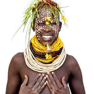 Karo Woman Smiling