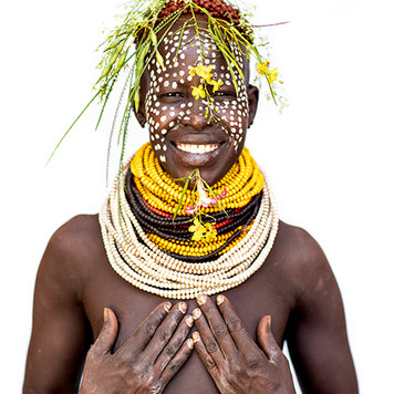 Karo Woman Smiling