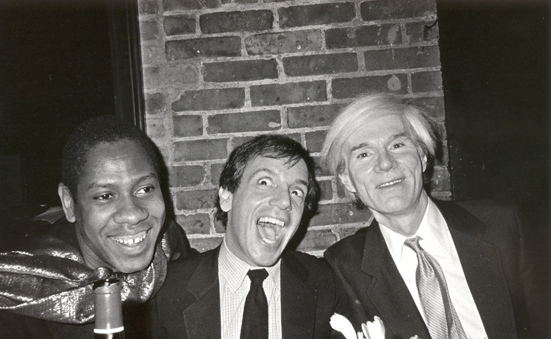 Bob Colacello Andre Leon, Steve Rubell, and Andy Warhol, Bianca Jagger's Birthday Dinner, Mortimer's, 1981