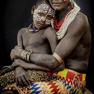 Karo Woman & Son