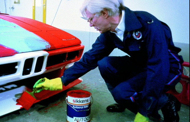 Andy Warhol painting BMW M1 (1977)