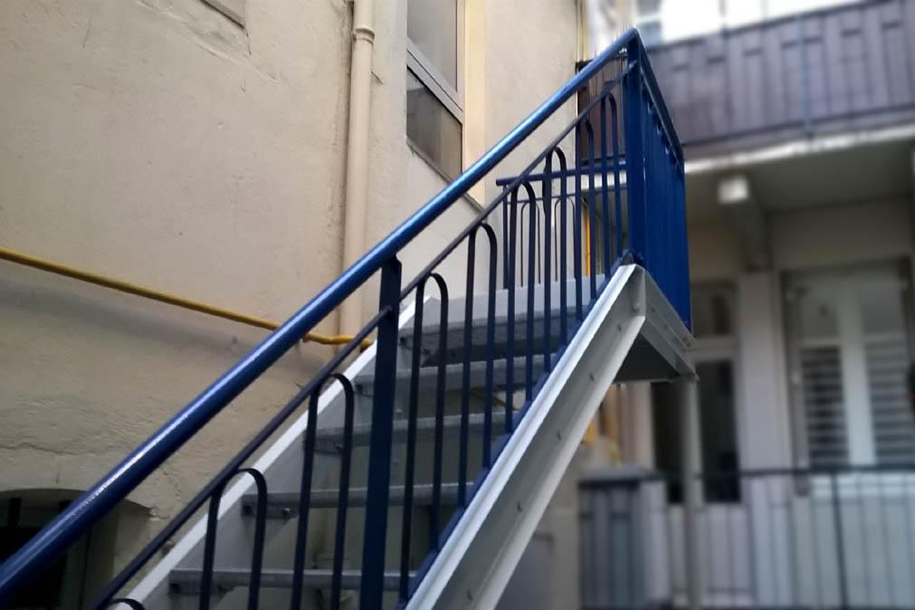 escalier garde-corps
