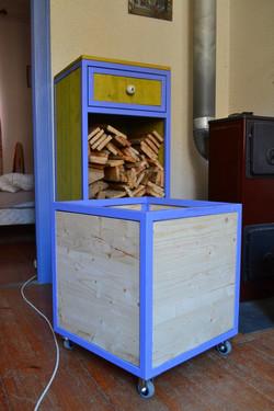meuble à bois caisse