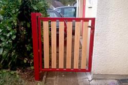 portail bois metal